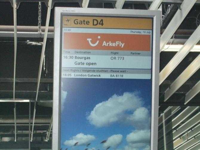 Vertrek op Schiphol